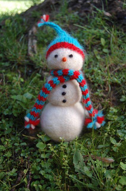 Snowman Squeaker Toy