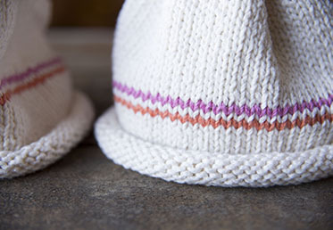 Maggie Pace's knit baby hat for beginners 1