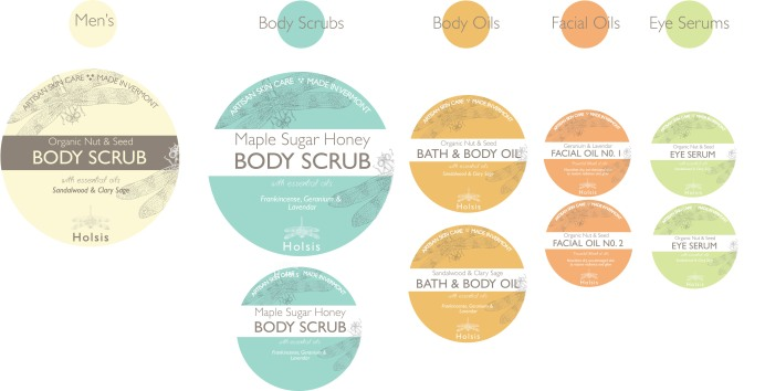 Layout and color concepts for new skincare line