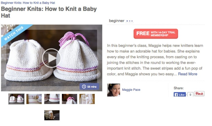 Maggie Pace's knit baby hat