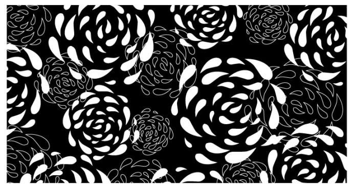 My original rose pattern. I didn't trace it. Honestly. I just had the gift card in my wallet.