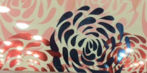 Abstracted floral pattern from a gift card.