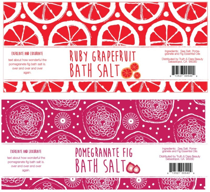 Maggie Pace grapefruit and pomegranete illustrations